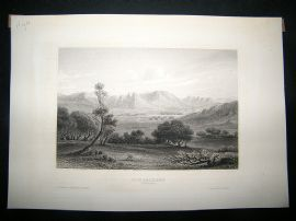 Africa:C1840 Steel Engraving, Niger, Antique Print.